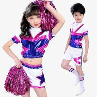 新款儿童啦啦队服装男女童体操健美操表演服幼儿长袖啦啦操演出服