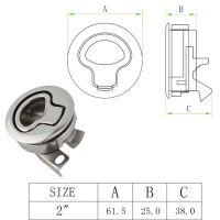 跨境专供 不锈钢316房车厕所门锁 地板锁 圆形拉环锁 舱门舱盖锁