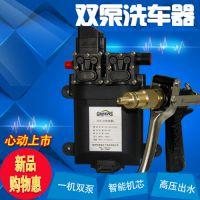 12V洗车机洗车器家用电动高压便携双泵车载清洗机刷车工具洗车泵