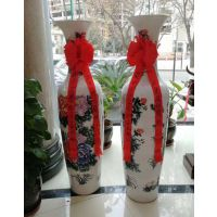 西安帝王黄陶瓷大花瓶 猪年吉祥西安开业陶瓷大花瓶选什么,前程似锦大花瓶