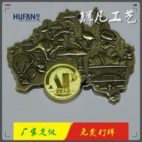 广州LOGO徽章 铜材质胸针找辉凡 免费设计