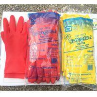韩国胶皮手套短款耐磨厨房清洁洗碗手套防水耐油耐用刷碗家务手套