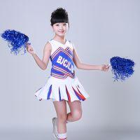 儿童啦啦队表演服装 女学生啦啦操健美操团队套装演出服拉拉队服