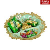 礼品美式复古创意糖果盘瓜子盘水果盘家里摆件茶几装饰品餐桌客厅