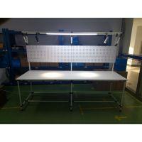 新宇新发,JYG-001,精益管工作台,线棒操作台,流水线作业台,线棒生产线,防静电工作台