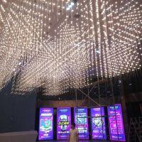 国际汽车城售楼部销售中心沙盘模型展示区中空新款光立方吊灯工厂