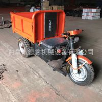 工地小型多功能自走式翻斗车 沙子混凝土运输车 大功率电动三轮车