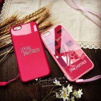 粉红豹苹果6S手机壳ip6s硅胶5S外壳iPhone6plus手机套全包挂绳套