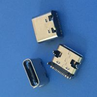 USB 3.1 板上16P 铆合 有柱L=7.35 板上3.26 正反插 镀镍