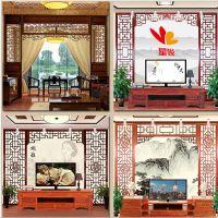 东莞海棠红厂家供应格实木花格电视背景墙 可定做尺寸颜色