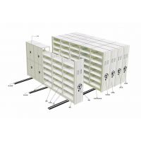 供应双柱式密集架 病案室钢制密集架 固定档案架图书架货架厂家