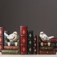 北欧式复古假书书挡书立书房书柜房间装饰品仿真书小首饰盒摆件