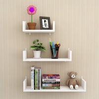 墙上置物架 书架客厅壁挂卧室床头墙面隔板 墙壁置物架免打孔装饰