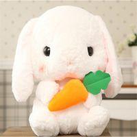 兔子公仔超柔短毛绒玩具定制厂家生产来图来样免费打样大耳兔兔