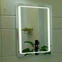 卫生间直角LED浴室镜子 带灯洗手间卫浴镜无框厕所镜