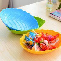 新品时尚创意多色树叶形水果盘 塑料糖果盘瓜子零食盘子厂家直销