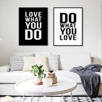 外贸励志语录油画艺术海报相框画芯个性创意家居客厅装饰画无框画