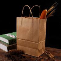2号链接 牛皮纸袋现货牛皮纸手提袋印刷logo广告手提纸袋