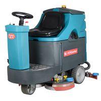 大型车间库房学校车站电瓶式洗地车驾驶式洗地车工厂全自动洗地机