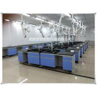 成都祥昱750*800钢木边台定做、实验室全钢中央台、高温仪器台定做