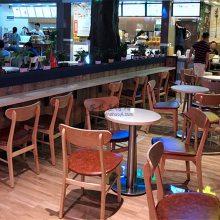 宁波奶茶店桌椅批发,时尚餐饮店家具定做
