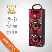 热卖手提木质蓝牙插卡SD/USB/FM音箱麦克风K歌音箱礼品订货