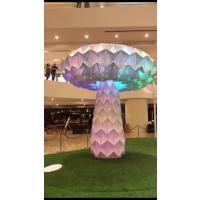 艺术互动装置 LED七彩变形发光蘑菇树 商场 地产活动暖场道具