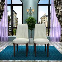 北欧大小户型家用椅子简约高端皮餐椅餐厅咖啡厅客厅餐桌椅组合