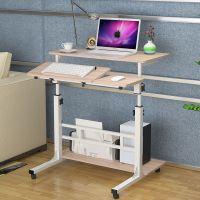 简约时尚家用懒人笔记本电脑桌 简易移动升降站立办公台式电脑桌