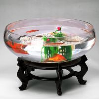 厂家直供   扁圆形鱼缸  乌龟缸