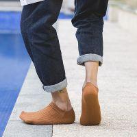 夏秋新款低帮船袜男士时尚吸湿排汗高弹力运动纯棉袜竖条日系潮袜