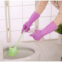 2361 乳胶薄款家用胶手套厨房胶皮清洁碗洗衣服橡胶防水家务手套