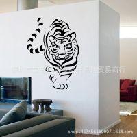新款外贸动物墙贴卧室沙发电视背景墙装饰个性贴画老虎2639