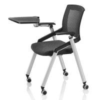 培训椅带写字板 网布会议椅 可折叠学习椅 众晟家具