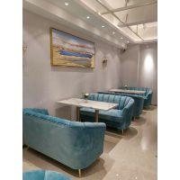 南山酒店卡座沙发,深圳粤时尚家具咖啡厅餐桌椅,南山区咖啡厅卡座布艺沙发