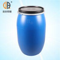 200L化工塑料桶 200升大口带铁箍法兰桶 包装桶 厂家直销