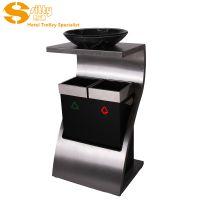 专业生产SITTY斯迪92.1072DK B310分类Z形大堂垃圾桶/酒店烟灰桶分类/不锈钢烟灰桶
