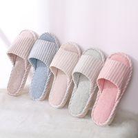 日韩式家居布艺拖鞋小清新加厚棉拖鞋棉布高弹力按摩拖鞋厂家批发