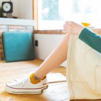 韩国袜子女短袜春夏棉袜纯棉复古订标千鸟格船袜日系个性女袜子潮