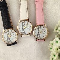 埃菲尔铁塔皮带手表 休闲时尚学生中性石英表 英伦风百搭时装表