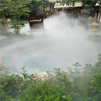 贵州铜仁锦江温泉酒店人工湖雾效人工造雾系统,人间仙境