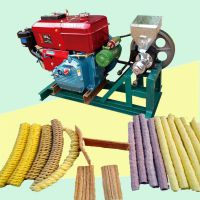 菏泽供应小型玉米膨化机 大人孩子都喜爱的膨化果 杂粮加工设备