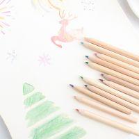 筒装彩色铅笔 带卷笔刀儿童彩铅韩国文具 学生绘画写生素描铅笔