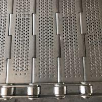 卓远厂家生产金属链板 316不锈钢冲孔链板输送带 食品级输送带