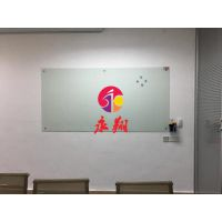 广州圆角钢化磁性白板挂式3家用办公超白板W纯白玻璃白板