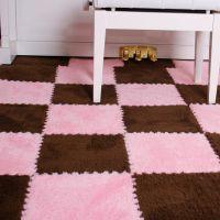 卧室地毯儿童泡沫拼图地垫爬行垫拼接铺地板垫子海绵毛绒面