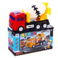 热卖创意新品电动搅拌工程车水泥车音乐发光车电动儿童玩具批发