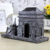 复古欧式建筑凯旋门水晶球   创意树脂家居装饰摆设 节日礼品