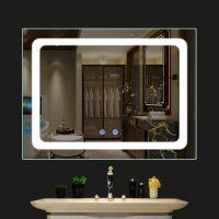 圆形LED浴室化妆镜带灯 卫浴镜子卫生间防雾镜智能镜触摸开关直销