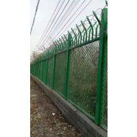 监狱防攀爬围网/防攀爬铁丝网/机场Y型护栏网 刺丝滚笼